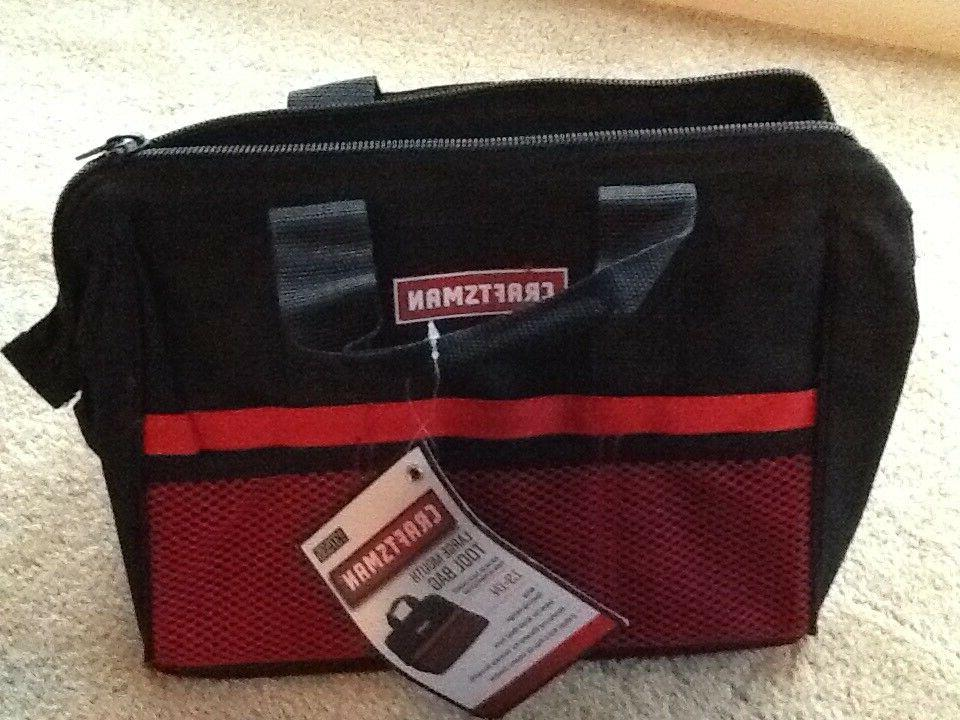 CRAFTSMAN LARGE MOUTH TOOL BAG REINFORCED MATERIAL 13 INCH 9