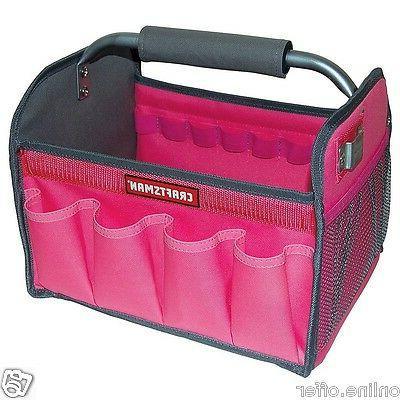 Craftsman 12-in Pink Tool Tote Tools Box Bag