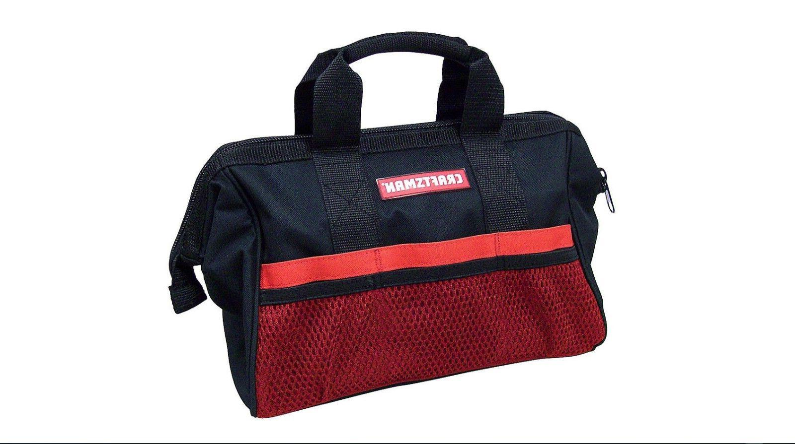 "Craftsman 13"" Large Mouth Tool Bags with Pockets - Brand New"