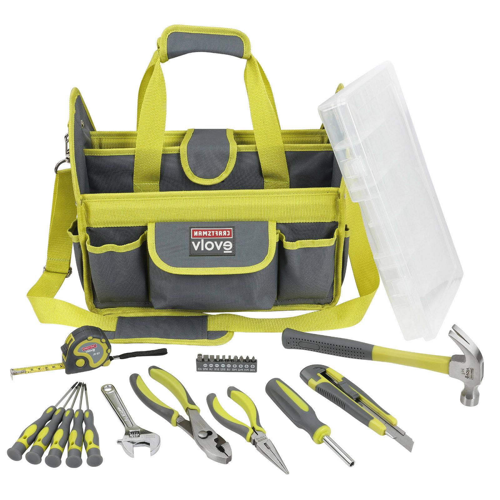Craftsman Evolv Homeowner Tool Set 24 Piece with Green Carry