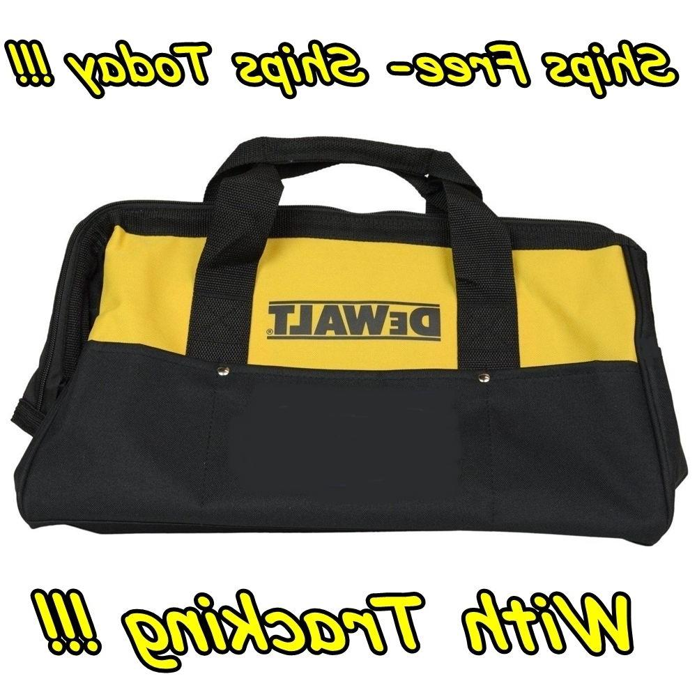 "DeWalt 13"" 6 Pocket Heavy Duty Nylon Canvas Contractor Carry"