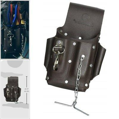 Equipment Belt Pouch Bag Leather Tool Electrical Tape Chain