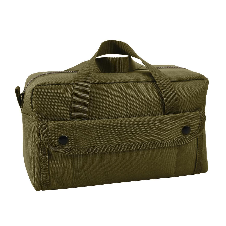 HEAVY GREEN STYLE TOOL BAG BRASS ZIPPER