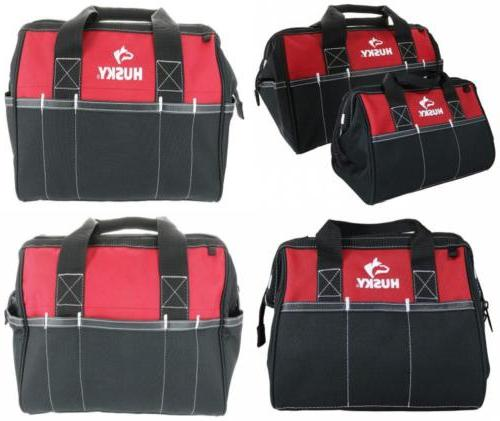 Husky 12 Inch and 15 Inch Water Resistant Tool Bag Multi Pac