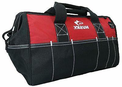 Husky 18 Inch Water-Resistant Contractor Tool Bag w/ Shoulde