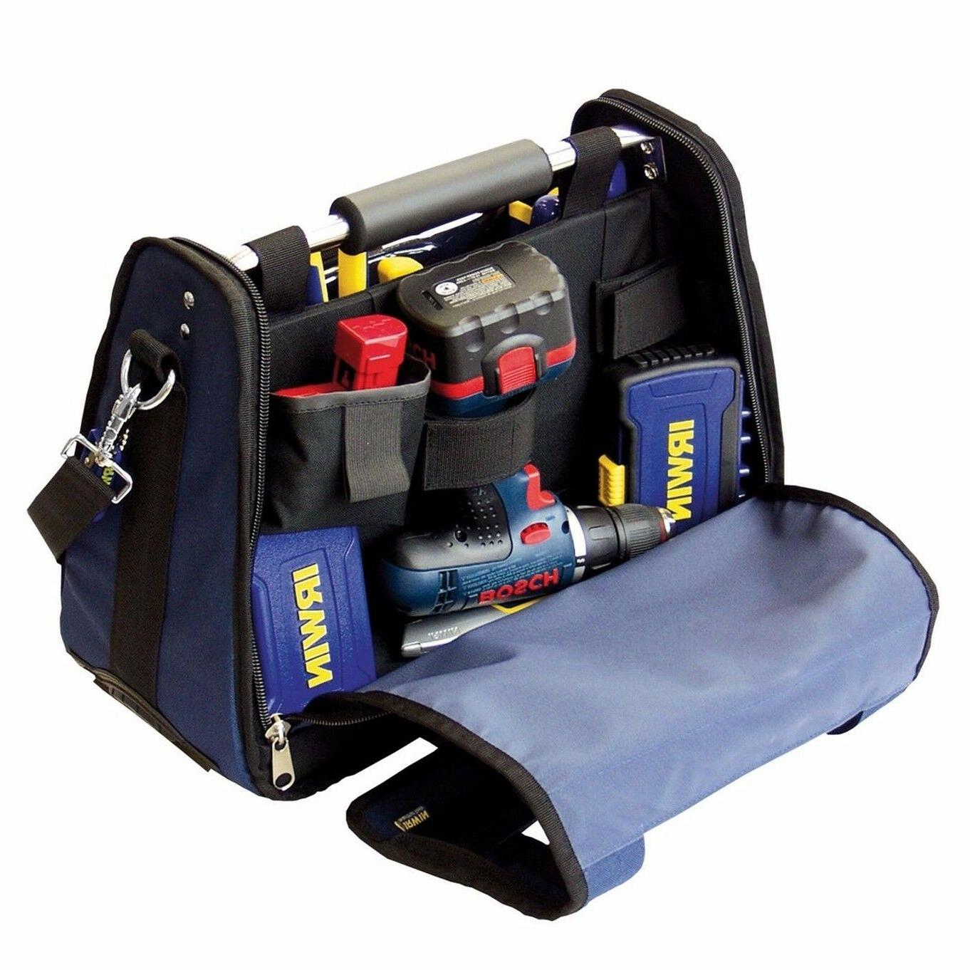 Irwin CENTRE TOTE TOOL BAG 42-Pockets Ridged Frame, Padded H