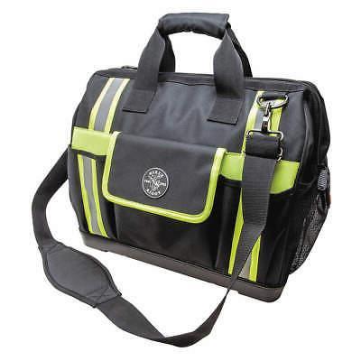 KLEIN TOOLS Tool Bag,General Purpose, 55598, Black/Gray/High