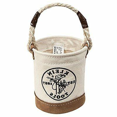 Klein Tools Canvas Mini Leather Bottom Bucket Transfer Tool