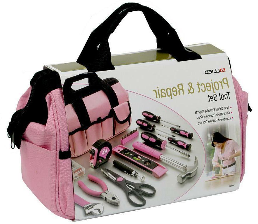 Ladies Pink Tool Bag 76PC Set Kit  Women Womens Girls Gift T
