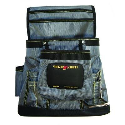 MagnoGrip 10-Pocket Magnetic Tool Pouch in Platinum Color