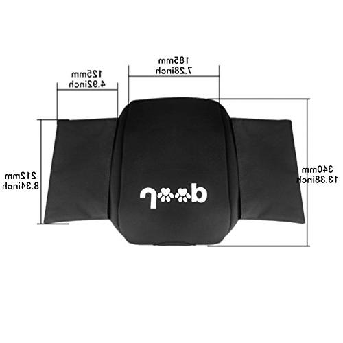 Neoprene Console Pad with Bag For JK Sport X & 2012 2013 2014 2016 2017 Jeep Dog Paw Paws logo