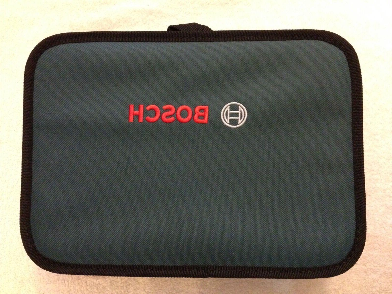 """New Bosch 12"""" x 9""""  x 3"""" Contractors Tool Bag with Inside Po"""
