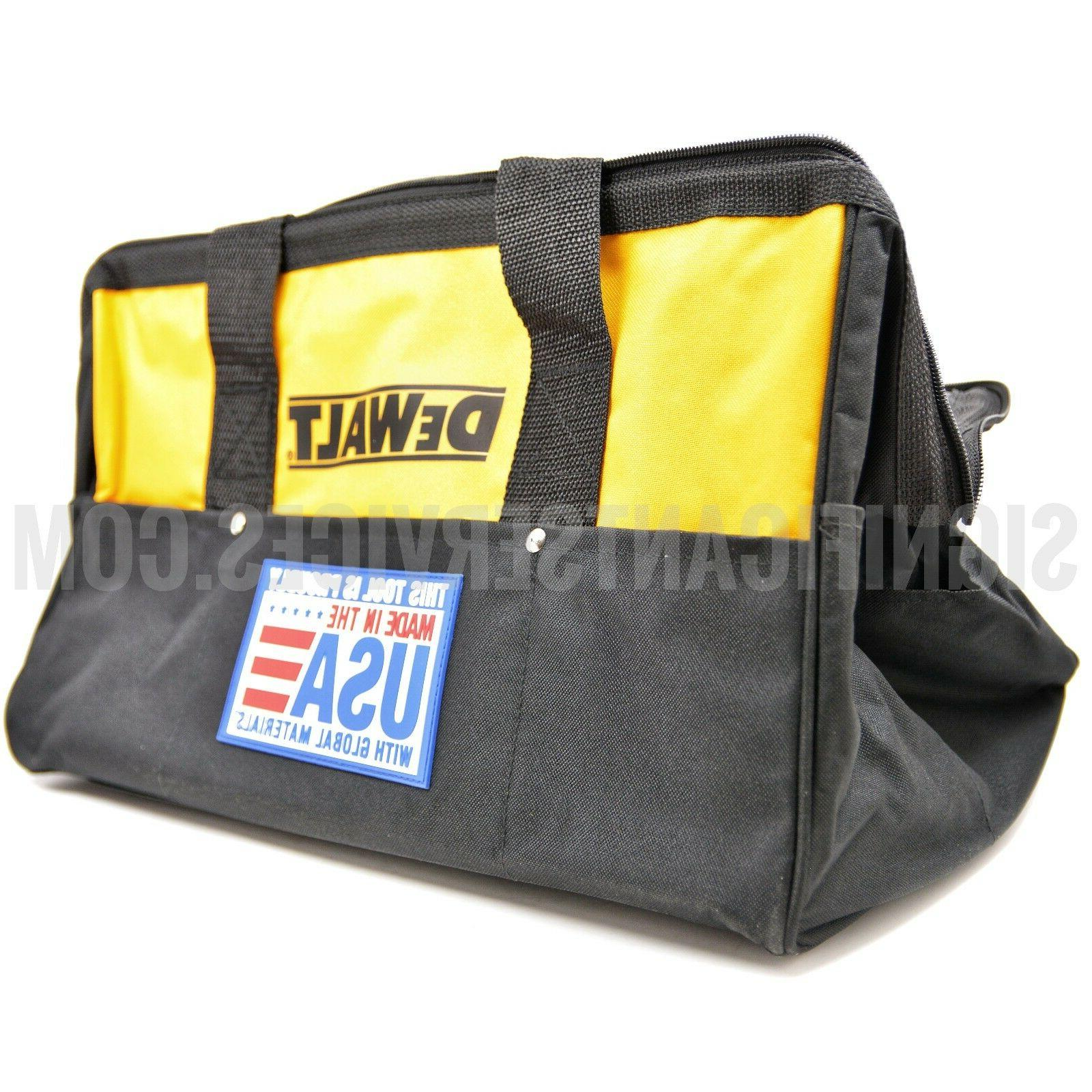 New DeWALT Heavy Duty Nylon Canvas Contractor Tool Bag Case
