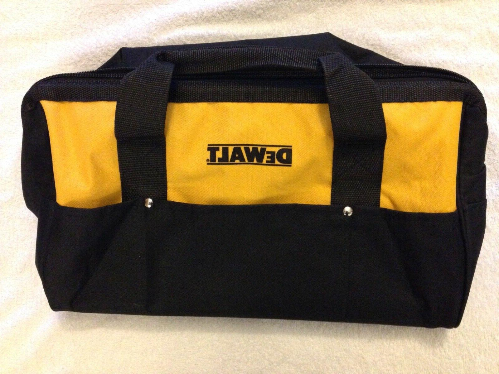 "New Dewalt DCK019 Tool Bag Heavy Duty Nylon 19"" x 12"" With"