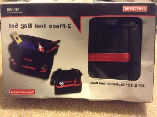 New In Box Craftsman Two-piece 12-Inch and 10-Inch Tool Bag