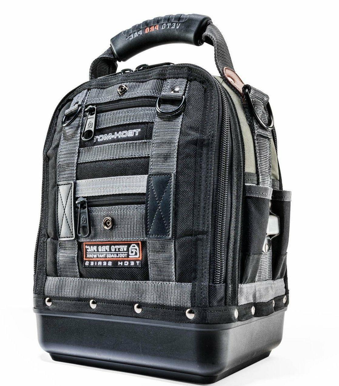 Professional Tool Bag Black Craftsmen Backpack Huge Capacity
