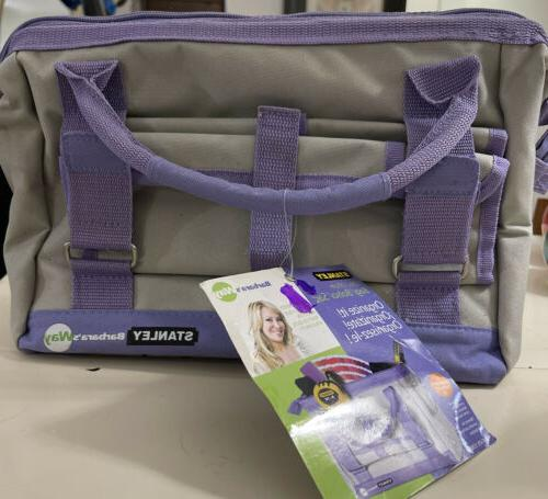 Stanley Barbara's Way12 Inch Bag Purple Gray Bag Organize To