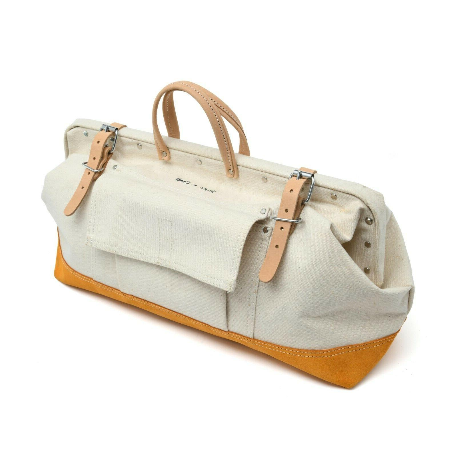"""Style n Craft 97516 - 20"""" Mason's Tool Bag in Canvas / Suede"""