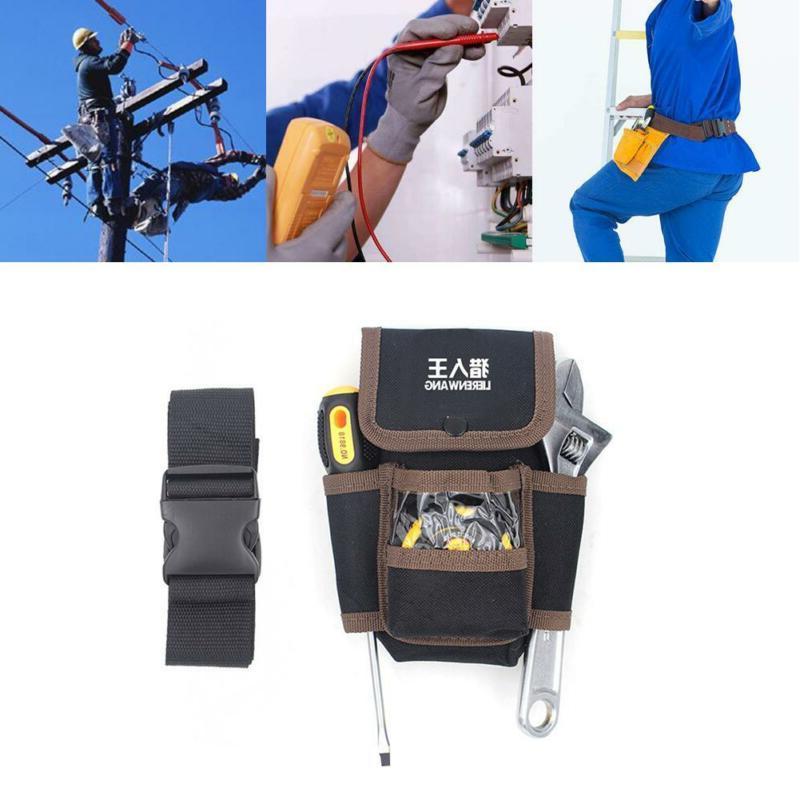 Tool Pouch Belt Bags 4 Pocket Holster Storage Holder Electri