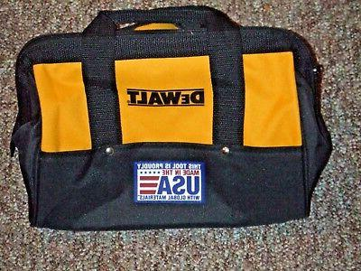 "USA DeWALT BLACK AND YELLOW 13 X 9 X 9""  NYLON TOOL BAG FROM"