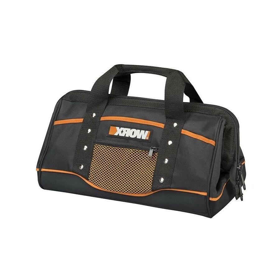 WA0076 WORX Zippered Tool Bag with Interior and Exterior Poc