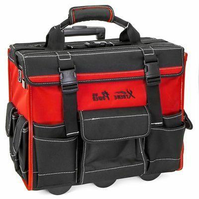 "XtremepowerUS 18"" Rolling HD Portable Bag Storage Organizer Tote"