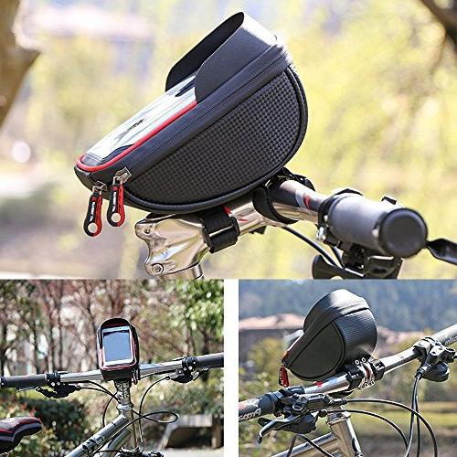 MOOZO Bicycle Frame Pouch Holder Stand 7 6S Samsung Galaxy Edge S6 Smartphones