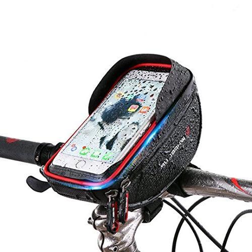 MOOZO Bike Handlebar Bicycle Phone Frame Pouch Holder iPhone X 8 7 Samsung Edge S6 Edge S6 Smartphones 6''