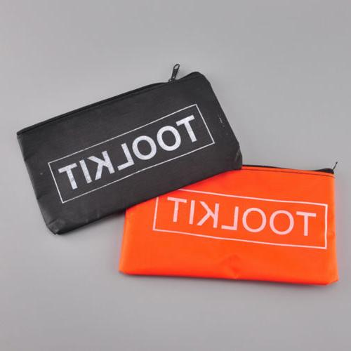 Tool Kit Bag Zipper Tools Storage Canvas Case Pouch Black Or