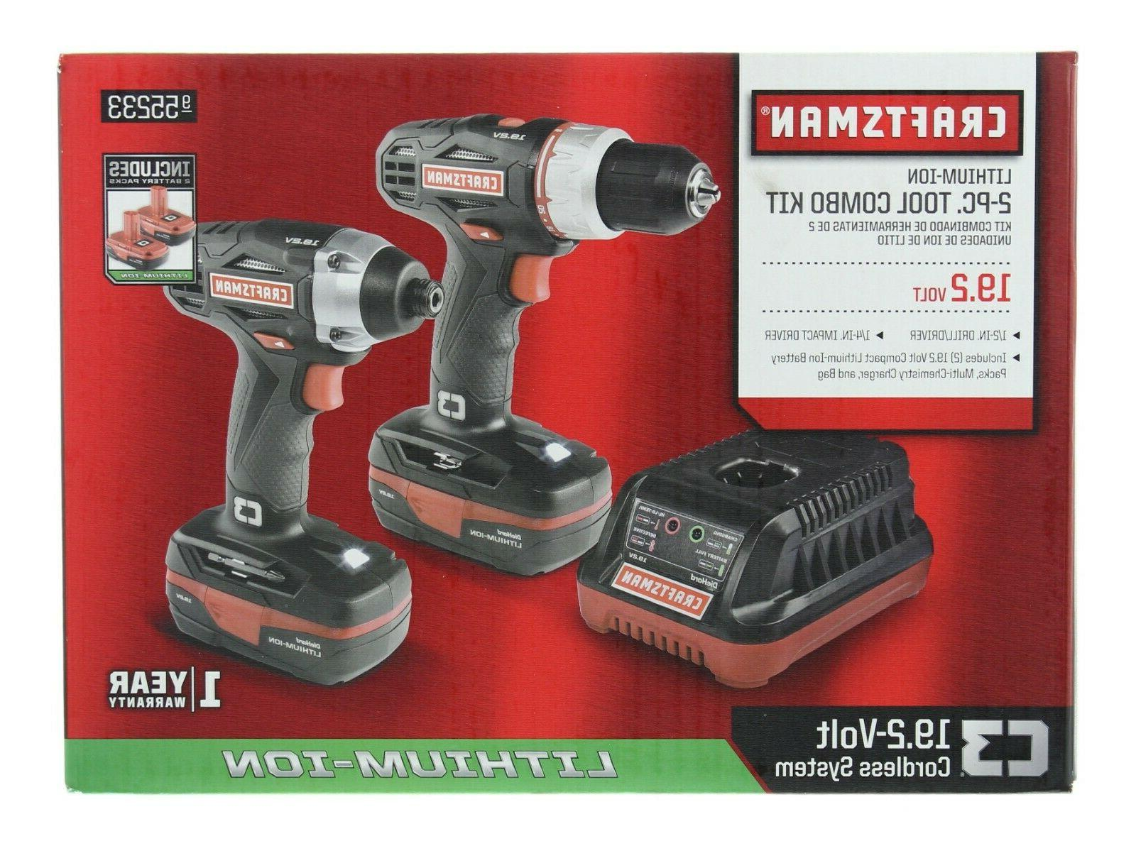 Craftsman C3 19.2 V 1/2 in Drill, 1/4 in Impact Driver Combo