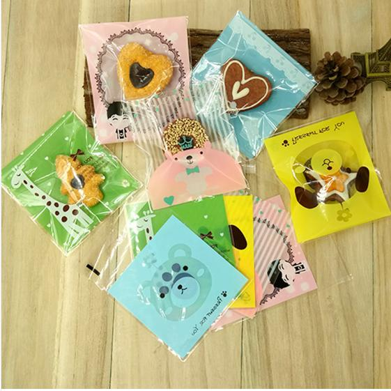 candy cookies bags with adhesive plastic gift