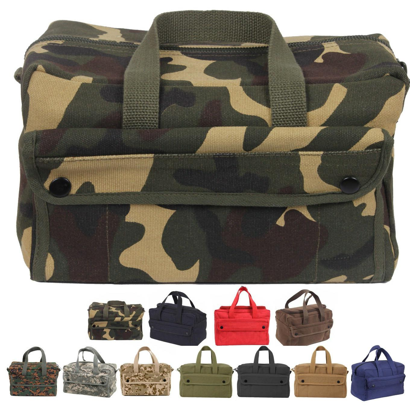 canvas tool bag heavy duty carry tote