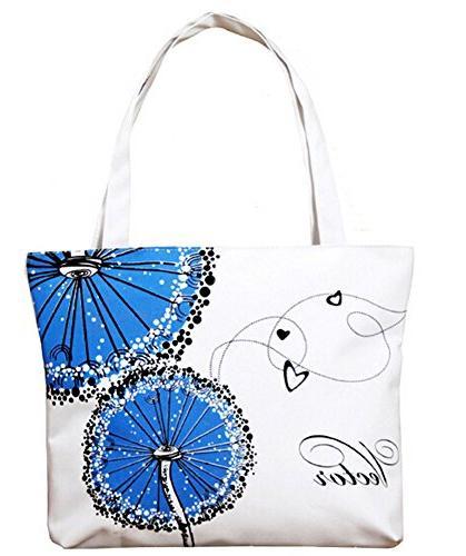 canvas zipper handle bag tote