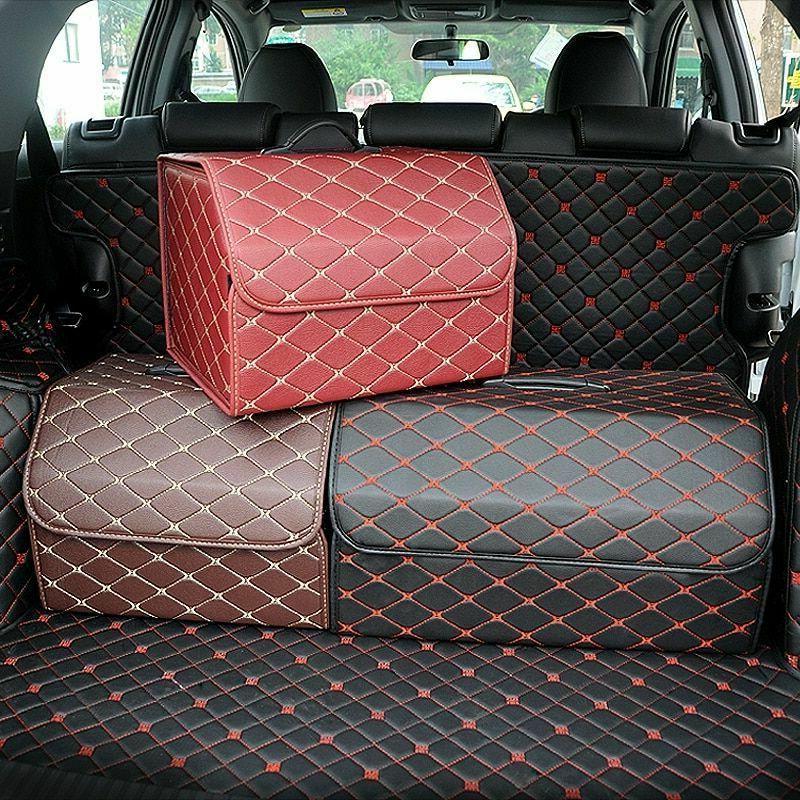 Car Trunk Organizer Box Storage Bag Auto Trash Tool Bag PU L