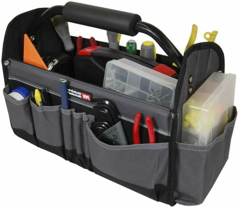 Open Top Electricians Tool Bag Stiff Frame Tote Tool Box Uti