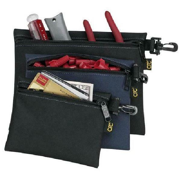 Custom Leathercraft 1100 3 Multipurpose Clip On Zippered Bag