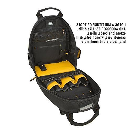 DEWALT DGL523 Lighted Backpack Bag, 57-Pockets