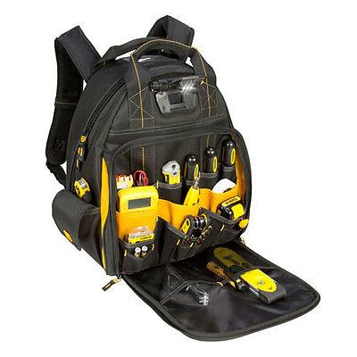 DeWalt DGL523 - Pro 57 Pocket LED Light Lighted Tool Backpac