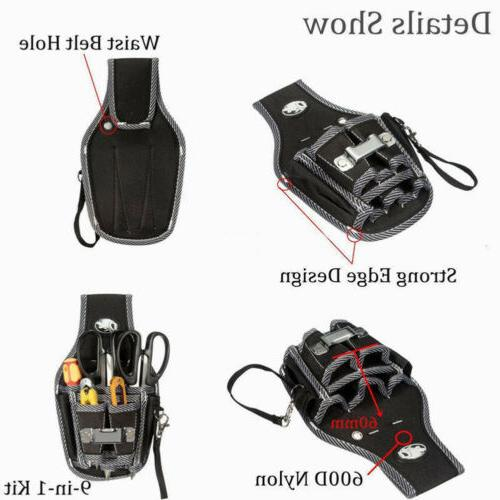 Electrical Waist 9 Tool Screwdriver Drill Holder Case Kit