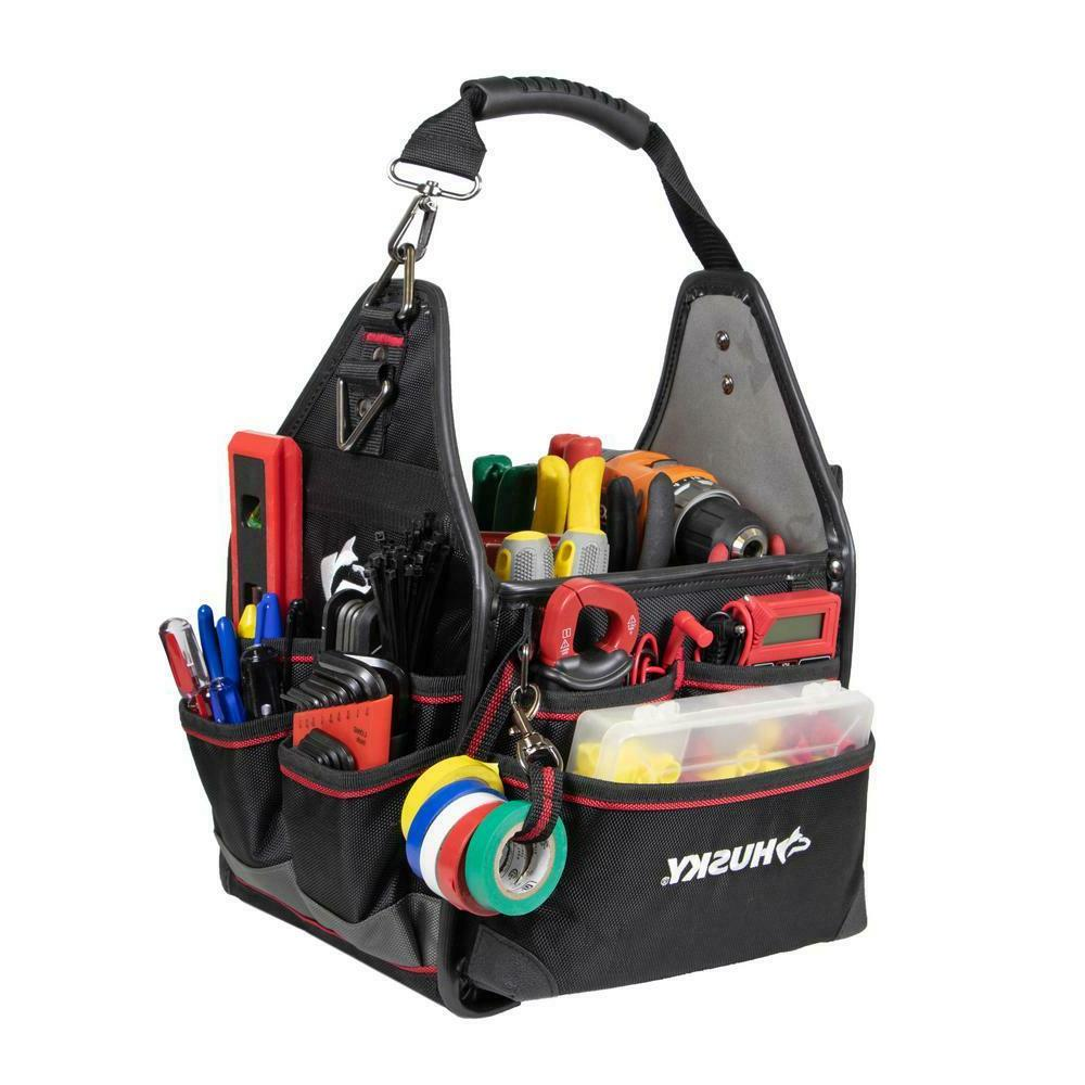 electrician tool bag w removable driver wall