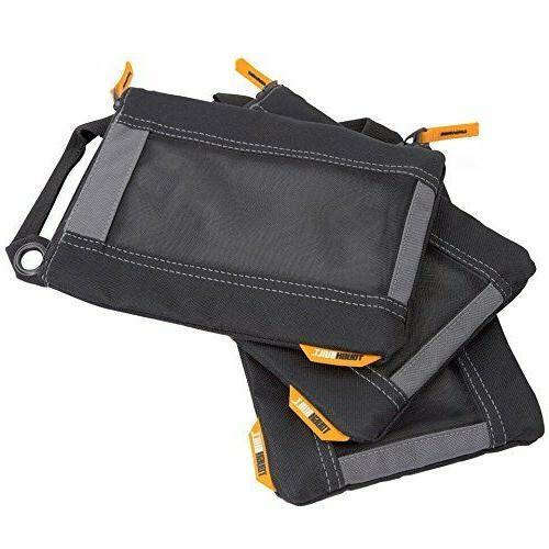 ToughBuilt Fastener Bags 3 Pack Zipper With Mesh Windows & T