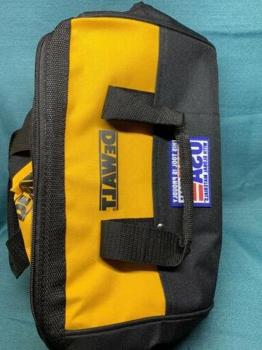 "DeWALT ~ Heavy Duty Canvas Contractor Tool Bag Case 13"" X 9"""