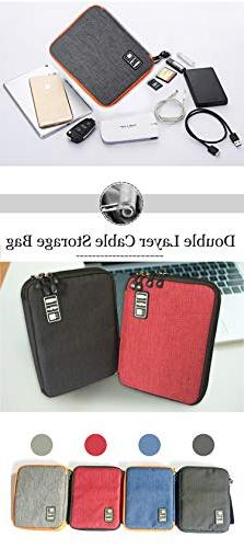 'Honana HN-CB1 Double Layer Cable Storage Bag Electronic Acc