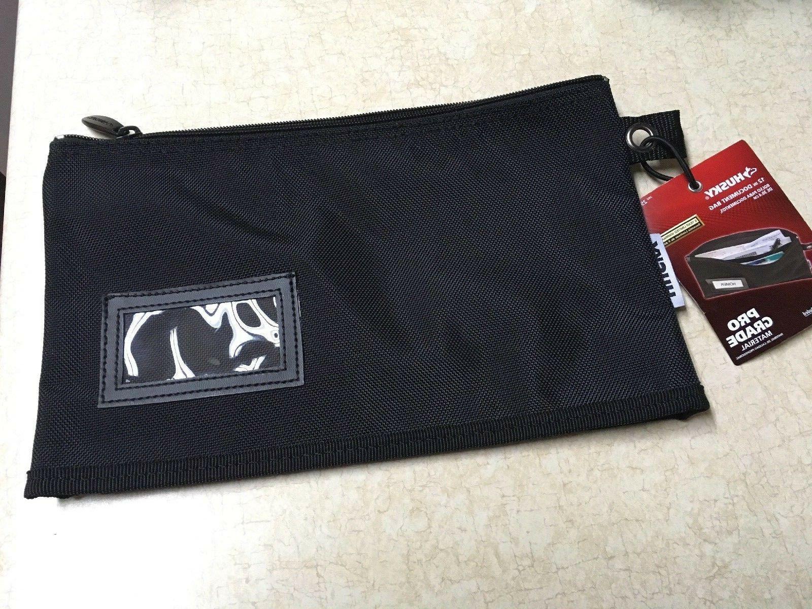 Husky Heavy Document Money Bag Zipper Resist inches Pro