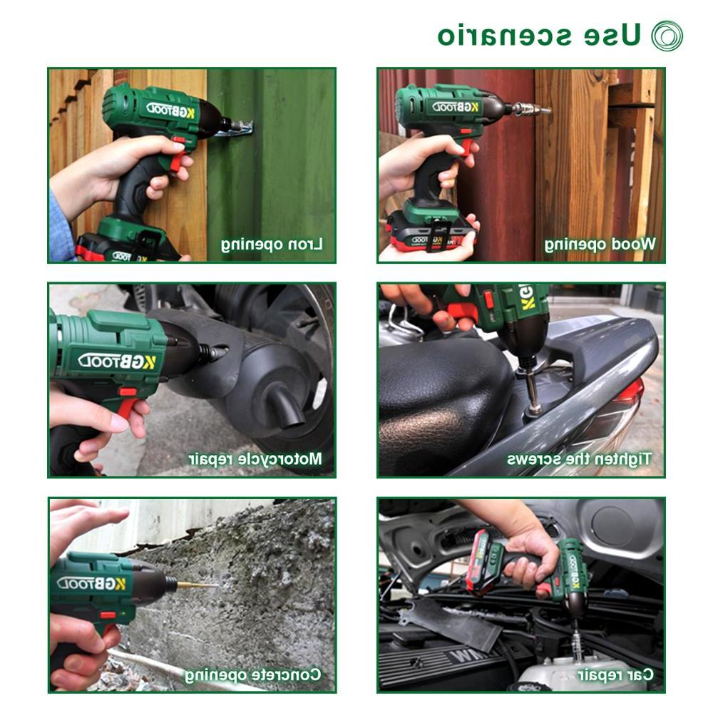 KGB driver Electric Cordless Wrench Drill Kit
