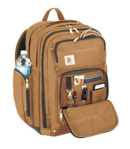 Carhartt Work Backpack 17-Inch Laptop Compartment, Brown