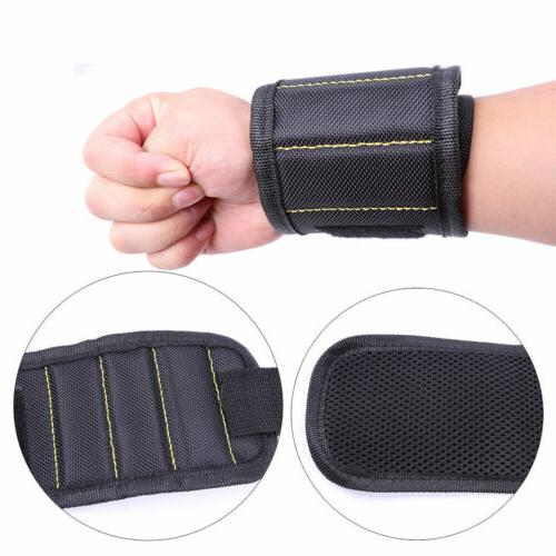 Magic Magnetic Wristband Bag Tools Belt Screws Drill
