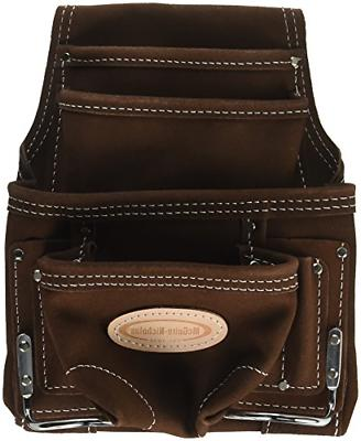 McGuire-Nicholas 688 Nail & Tool Bag with 10 Packet, Brown