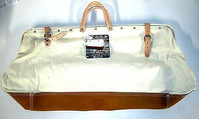 "McGuire Nicholas 24""  Mason Bag heavy duty canvas w/ Full gr"
