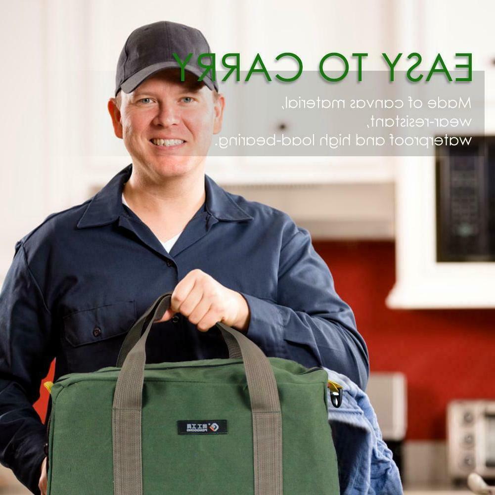 Multi-function Canvas Waterproof Storage Bag Hand Tool Bag P